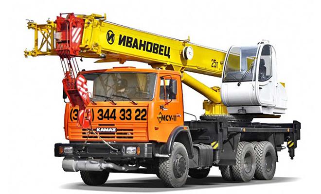 Автокран 25 тонн, 21 метр Ивановец (КС-45717)