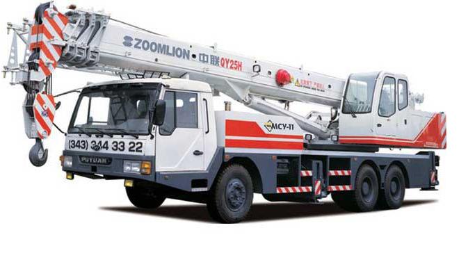 Автокран 25 тонн, 33 метра Zoomlion (QY25V431)