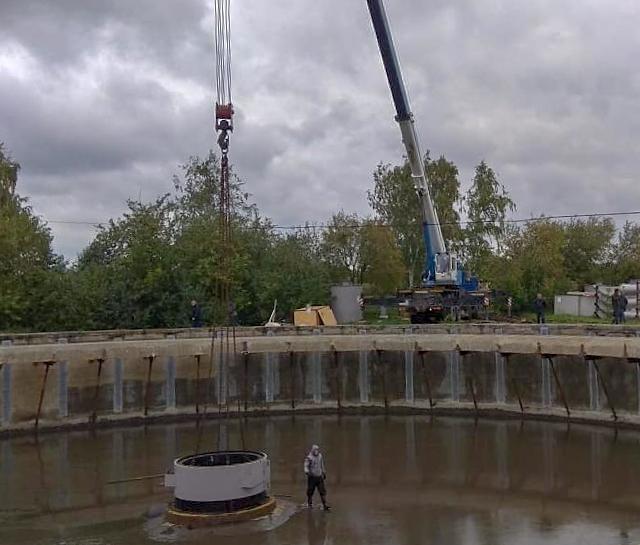 Демонтаж конструкции автокраном 50 тонн