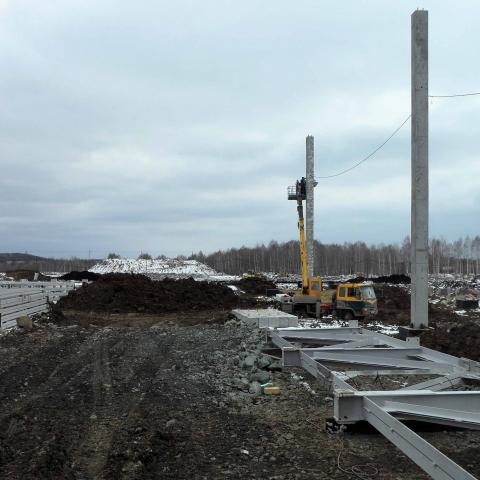 Монтаж фермы весом 5 тонн. Автокран 50тонн
